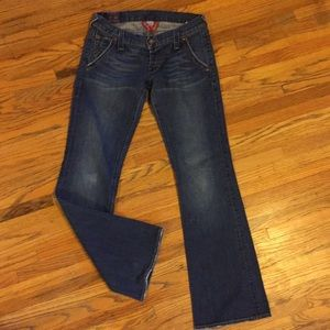 Lucky Brand flare jeans, Lil Maggie, button fly